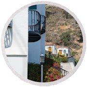 Santa Catalina Island Bell Tower Round Beach Towel