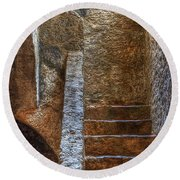 Bell Tower Stairs Round Beach Towel
