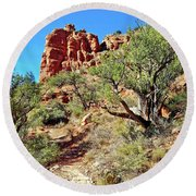 Bell Trail Round Beach Towel
