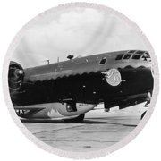 Bell X-1 Resting In Belly Of B-29, 1947 Round Beach Towel