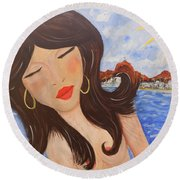 Bella En Rio Round Beach Towel