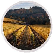 Bella Vida Vineyard 1 Round Beach Towel