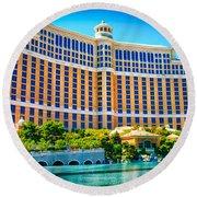 Bellagio Hotel And Casino Round Beach Towel