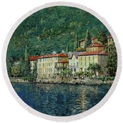 Bellano On Lake Como Round Beach Towel