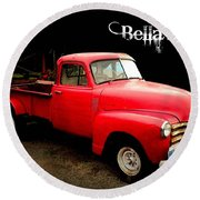 Bella's Ride Round Beach Towel
