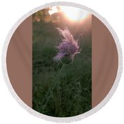 Belles Flower Round Beach Towel