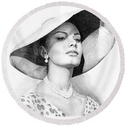 Bellezza Eterna Round Beach Towel