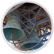 Bells Of Torre Dei Lamberti - Verona Italy Round Beach Towel