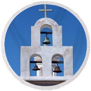 Bells - San Xavier Del Bac - Arizona Round Beach Towel