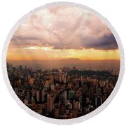 Belo Horizonte - The Cityscape From Above Round Beach Towel