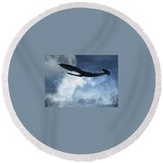 Below Radar Round Beach Towel