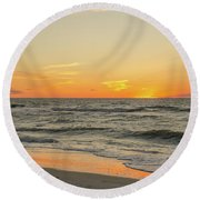 Below The Horizon Round Beach Towel