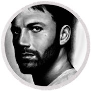 Ben Affleck Round Beach Towel