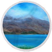 Ben More On Mull Round Beach Towel