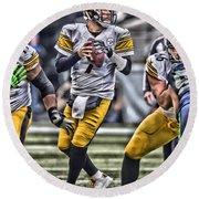 Ben Roethlisberger Pittsburgh Steelers Art Round Beach Towel