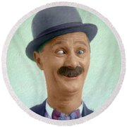 Ben Turpin, Vintage Comedy Actor Round Beach Towel