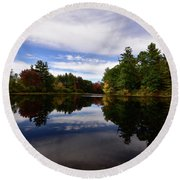 Bend In The River Round Beach Towel