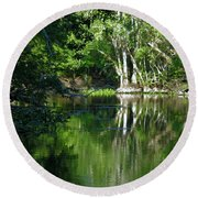 Bend Of The Ocklawaha River Round Beach Towel