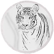 Bengal Tiger Round Beach Towel