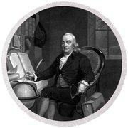 Benjamin Franklin -- The Scientist Round Beach Towel