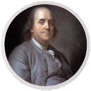 Benjamin Franklin Round Beach Towel