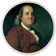 Benjamin Franklin Round Beach Towel by Joseph Wright of Derby