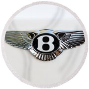 Bentley Emblem -0081c Round Beach Towel