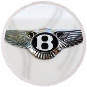 Bentley Emblem -0081c Round Beach Towel