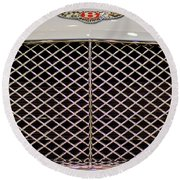 Bentley Grille And Insignia Round Beach Towel