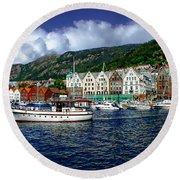 Bergen - Norway Round Beach Towel
