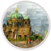 Berlin Cathedral Round Beach Towel