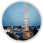 Berlin - Funkturm Round Beach Towel