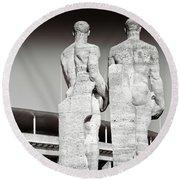 Berlin Olympiastadion - Berlin Olympic Stadium Round Beach Towel