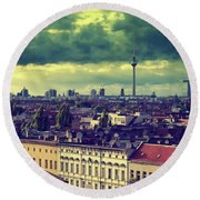 Berlin Roofscape Round Beach Towel