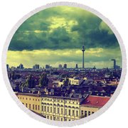 Berlin Skyline And Roofscape Round Beach Towel
