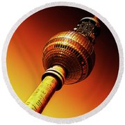Berlin Television Tower - Berlin I Love You Round Beach Towel