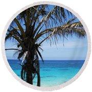 Bermuda Blues Round Beach Towel