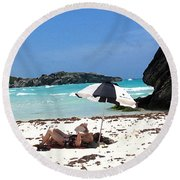 Bermuda On The Beach Round Beach Towel