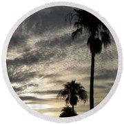 Bermuda Palms Round Beach Towel