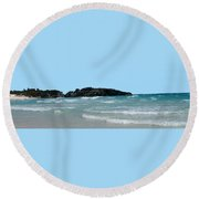Bermuda South Shore Beach Round Beach Towel