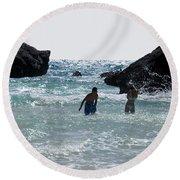 Bermuda Splash Round Beach Towel