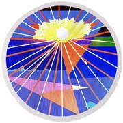 Bermuda Sunset Round Beach Towel