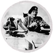 Bernard Law Montgomery Round Beach Towel by War Is Hell Store