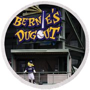 Bernies Dugout Round Beach Towel