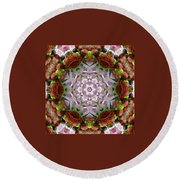 Berry Kaleidoscope Round Beach Towel