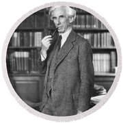 Bertrand Russell Round Beach Towel