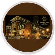 Best Western Plus Windsor Hotel - Christmas -2 Round Beach Towel
