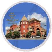 Best Western Plus Windsor Hotel Round Beach Towel