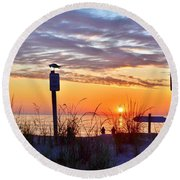 Sunrise In Paradise 2 Round Beach Towel