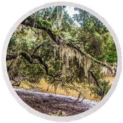 Bethany Cemetery Oaks And Tidal Creek Round Beach Towel